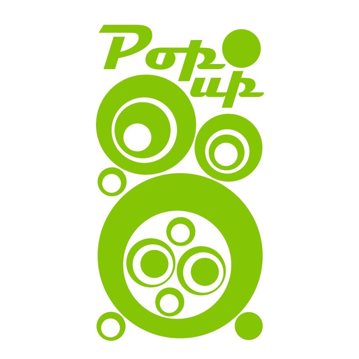 Sticker frigo les cercles pop 60x33 cm - vert -...