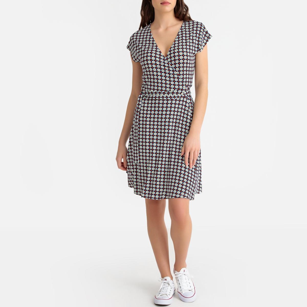 Платье-миди с запахом платье с запахом vest azahara