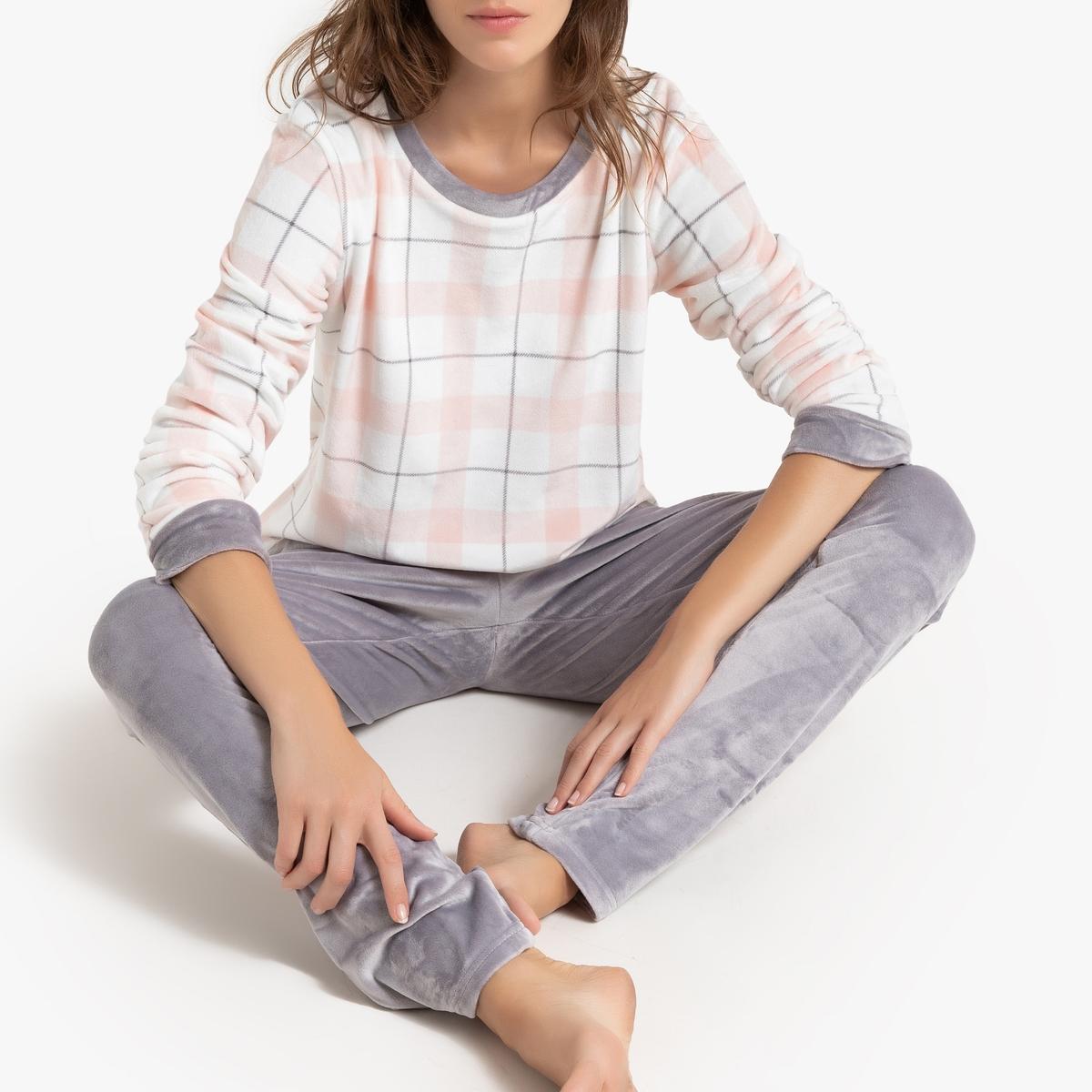 Пижама La Redoute Bonheur XL розовый свитшот la redoute la redoute xl розовый