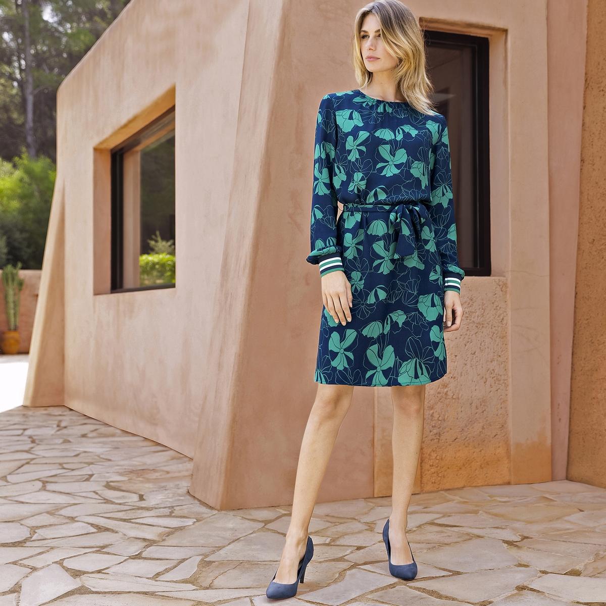 Imagen principal de producto de Vestido recto estampado, crepé vaporosa - Anne weyburn