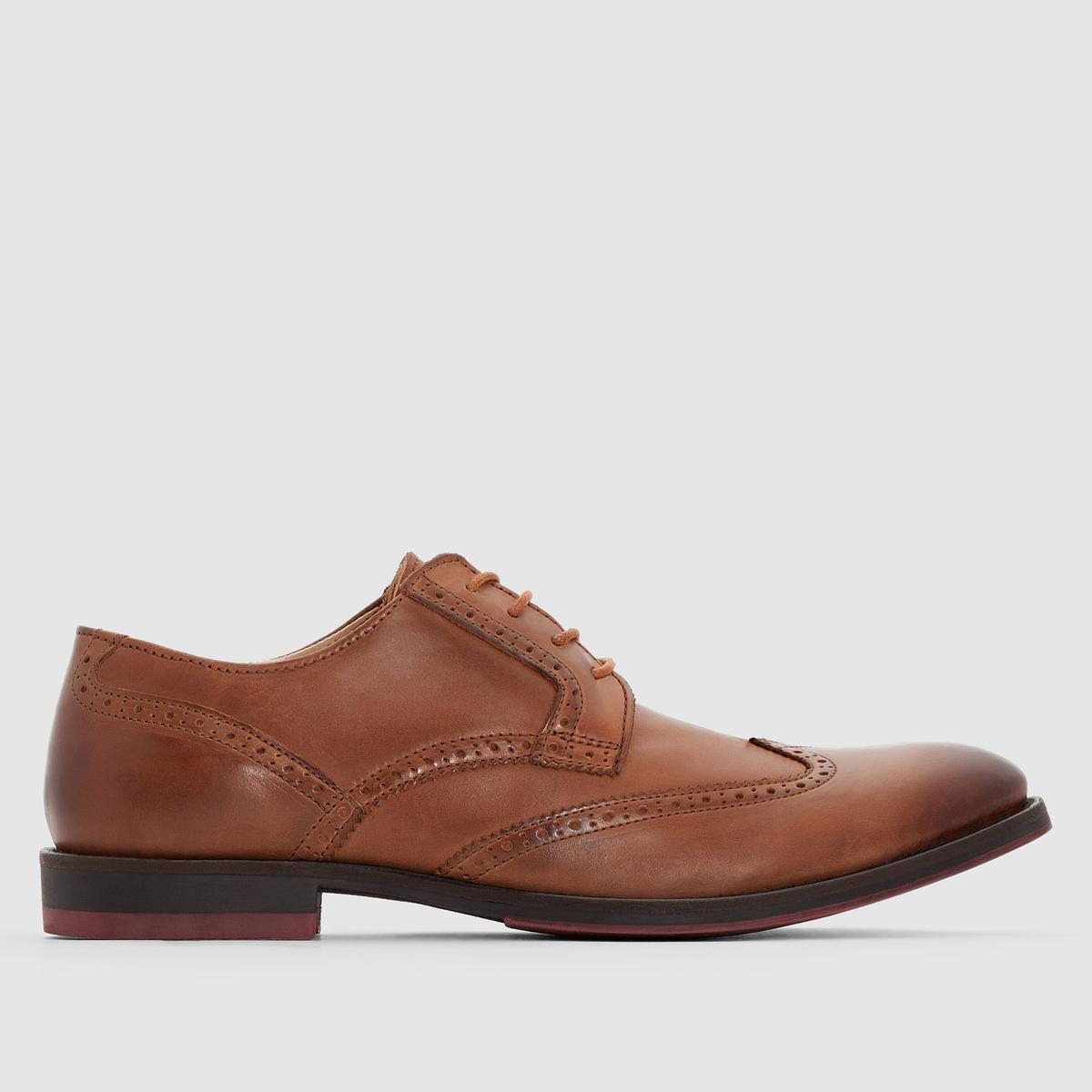 Ботинки-дерби кожаные на шнуровке от La Redoute Collections