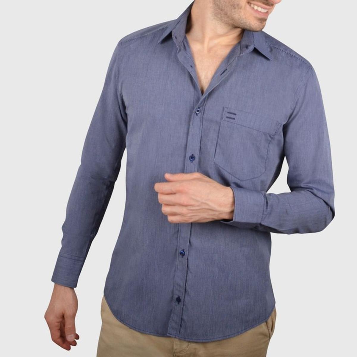 Chemise cintrée avec poche
