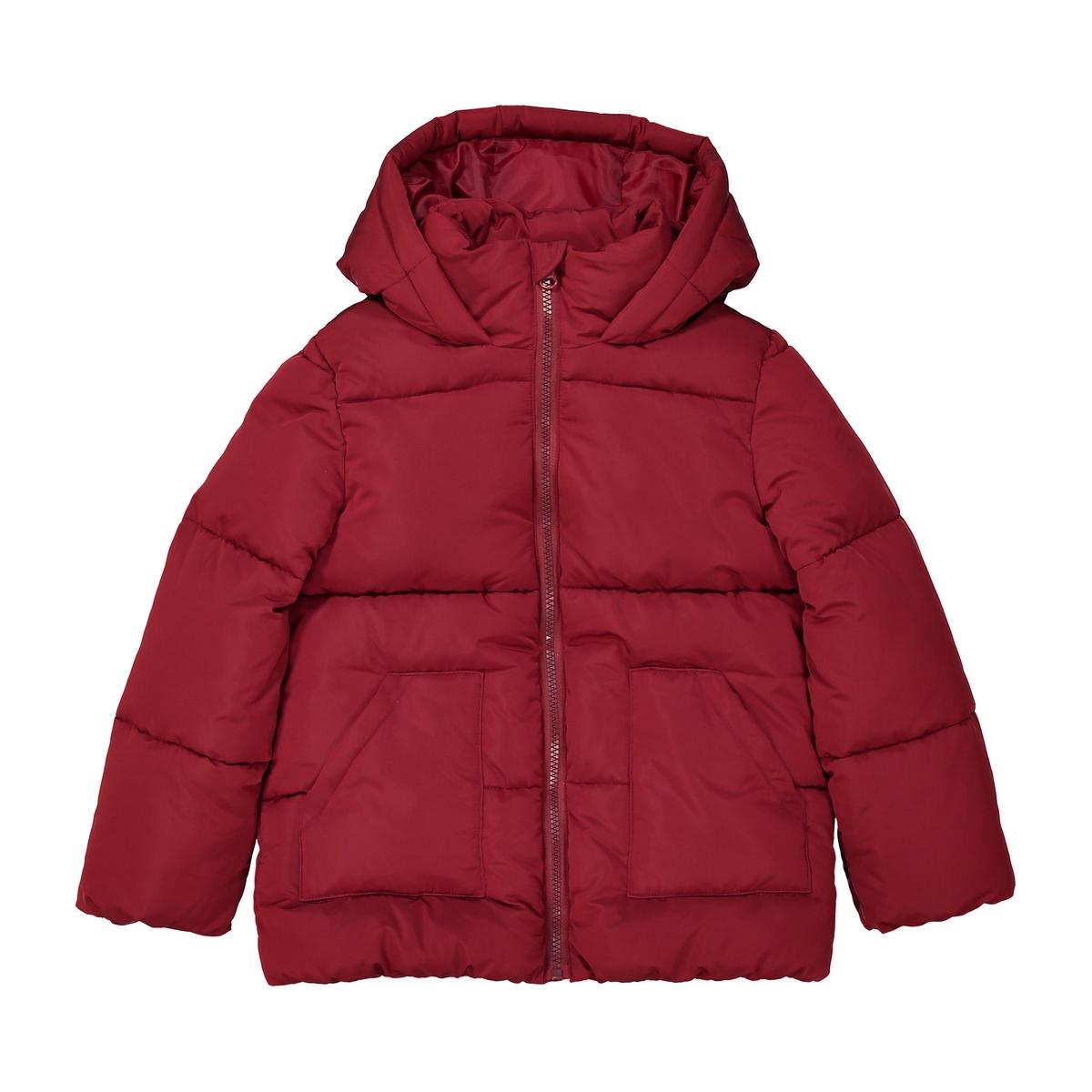 Куртка стеганая теплая длинная с капюшоном, 3-12 лет