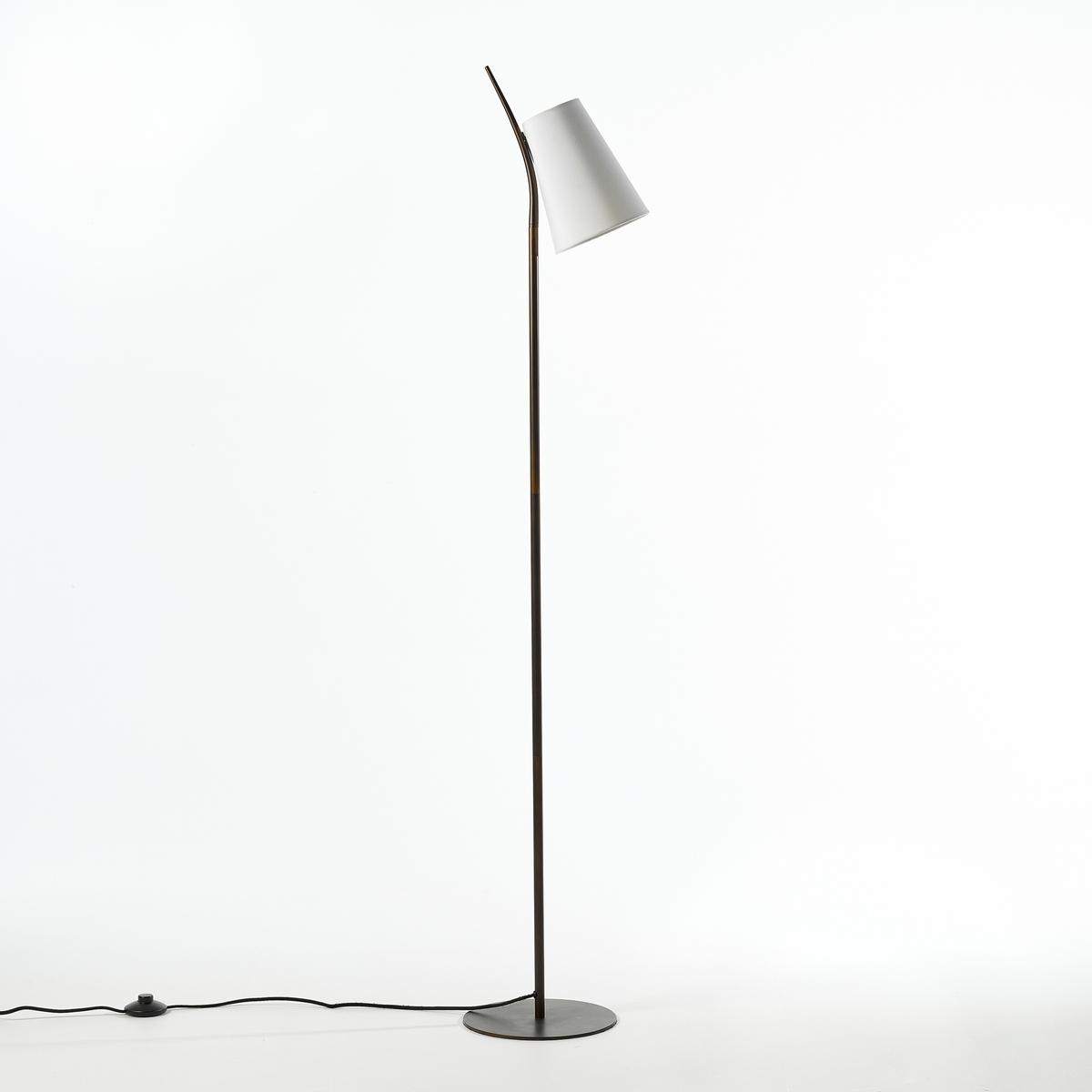 Торшер JouanicoТоршер Jouanico : элегантная форма, идеально подходит как настольная лампа или как торшер ! Характеристики :- Металлический каркас с покрытием эпоксидной краской- Абажур из хлопка.- Патрон E14 для компактной лампы макс. 8 Вт (продается отдельно).- Совместим с лампами класса энергопотребления A.Размеры :- Ш.25 x В.154 x Г.27,5 см.Это изделие может использоваться в комнате детей старше 14 лет согласно действующему стандарту.<br><br>Цвет: белый
