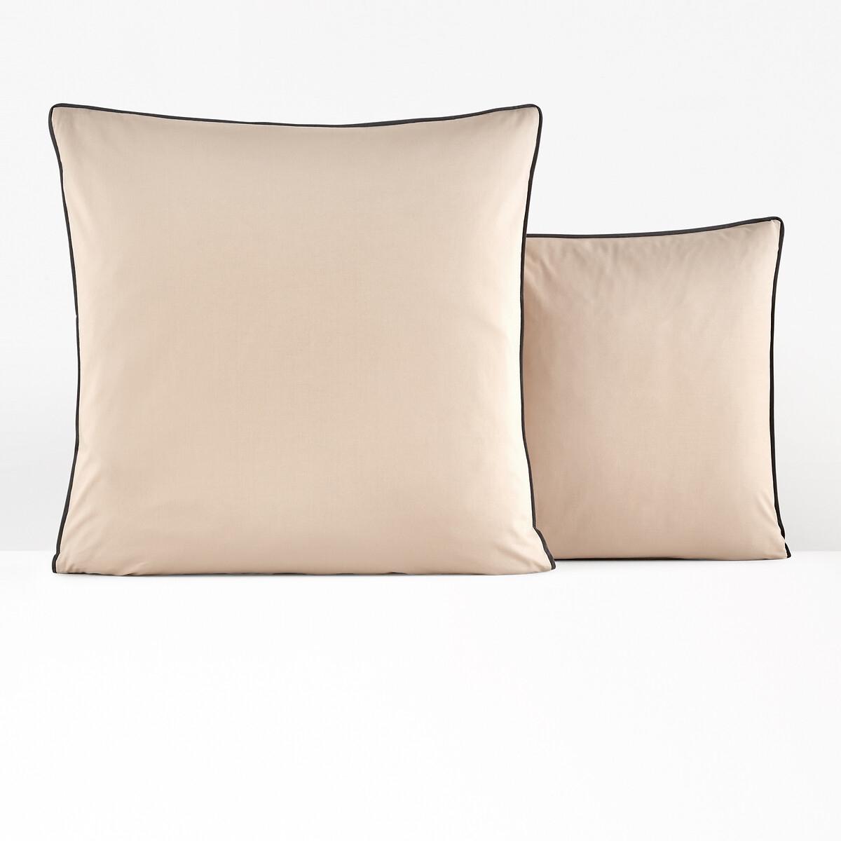 Наволочка La Redoute На подушку или подушку-валик из перкали DUO 63 x 63 см бежевый чехол la redoute на подушку chivy 50 x 30 см красный