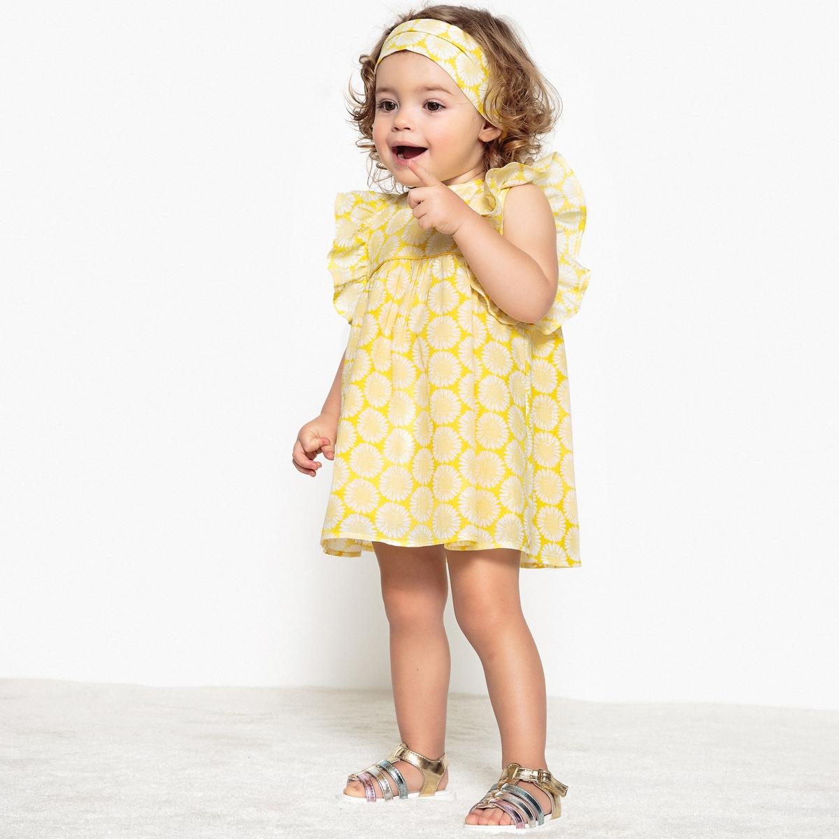 Комплект для малышей из платья и повязки 1 иес. - 3 года от La Redoute Collections