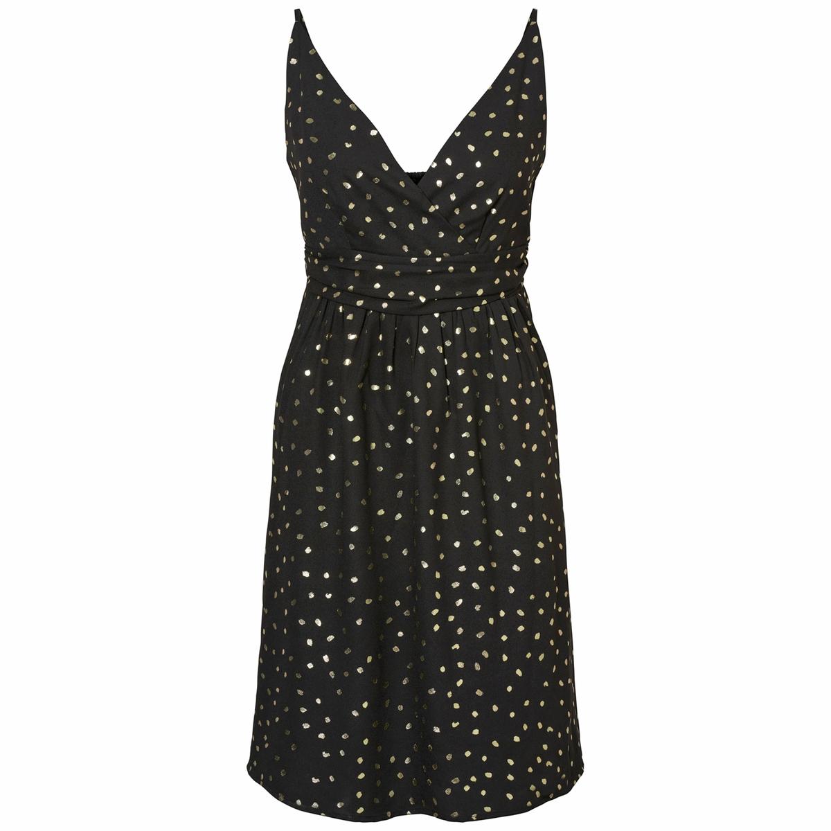 Платье расклешенное средней длины от La Redoute