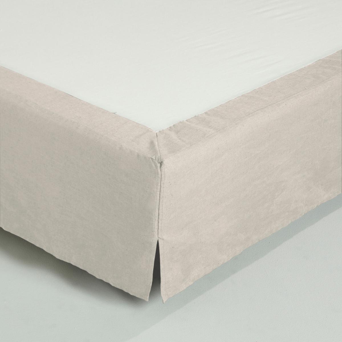 Чехол La Redoute Для кровати льна 180 x 200 см бежевый