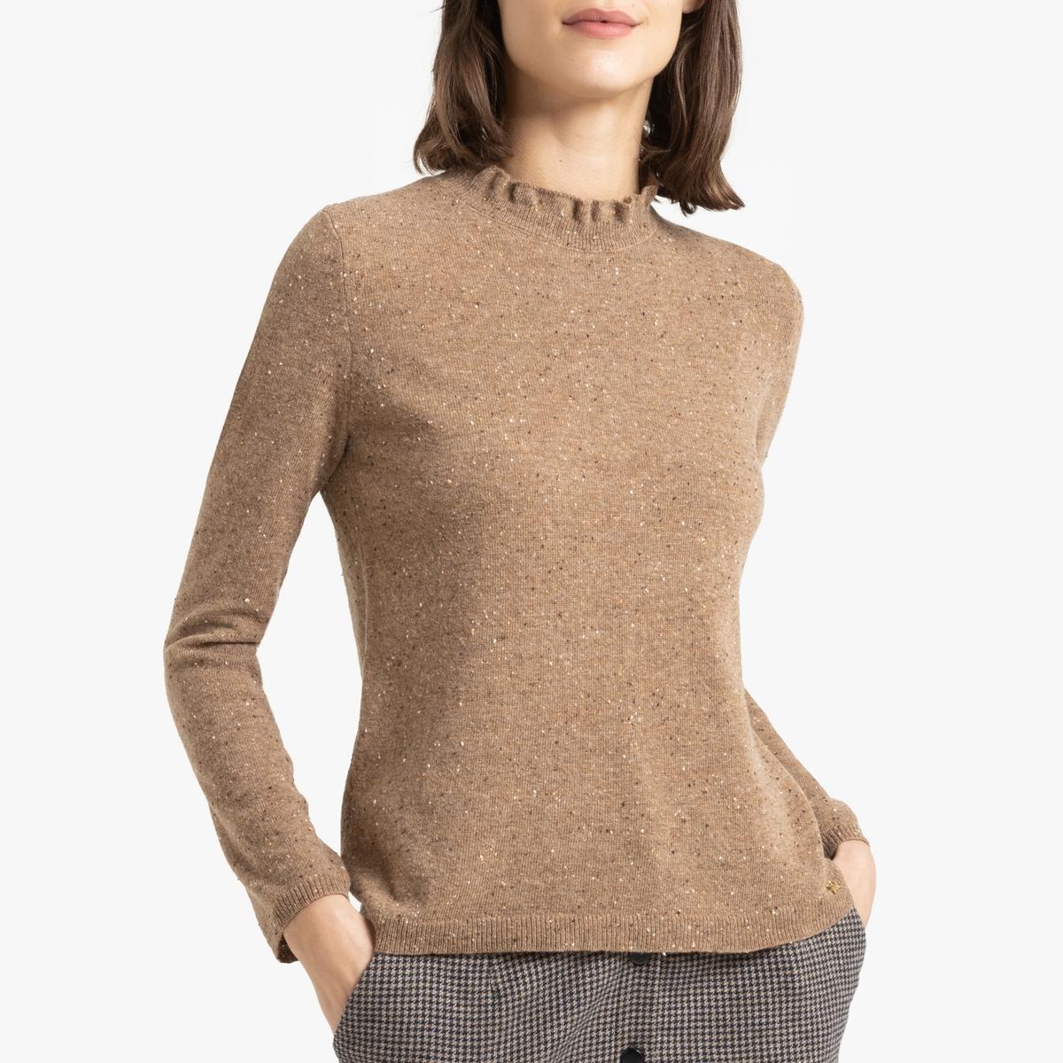 Пуловер La Redoute Из тонкого шерстяного трикотажа CHARLOT 1(S) синий пуловер la redoute из тонкого трикотажа со шнуровкой l бежевый