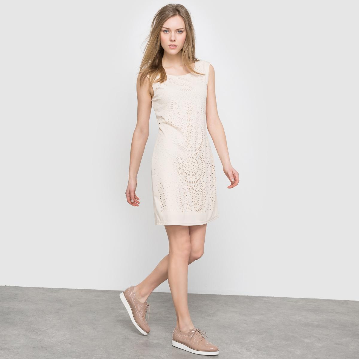 Платье ажурное без рукавов - MOLLY BRACKEN, LADIES WOVEN DRESSСостав и описание:Материал: 100% полиэстера.Марка: MOLLY BRACKEN<br><br>Цвет: бежевый