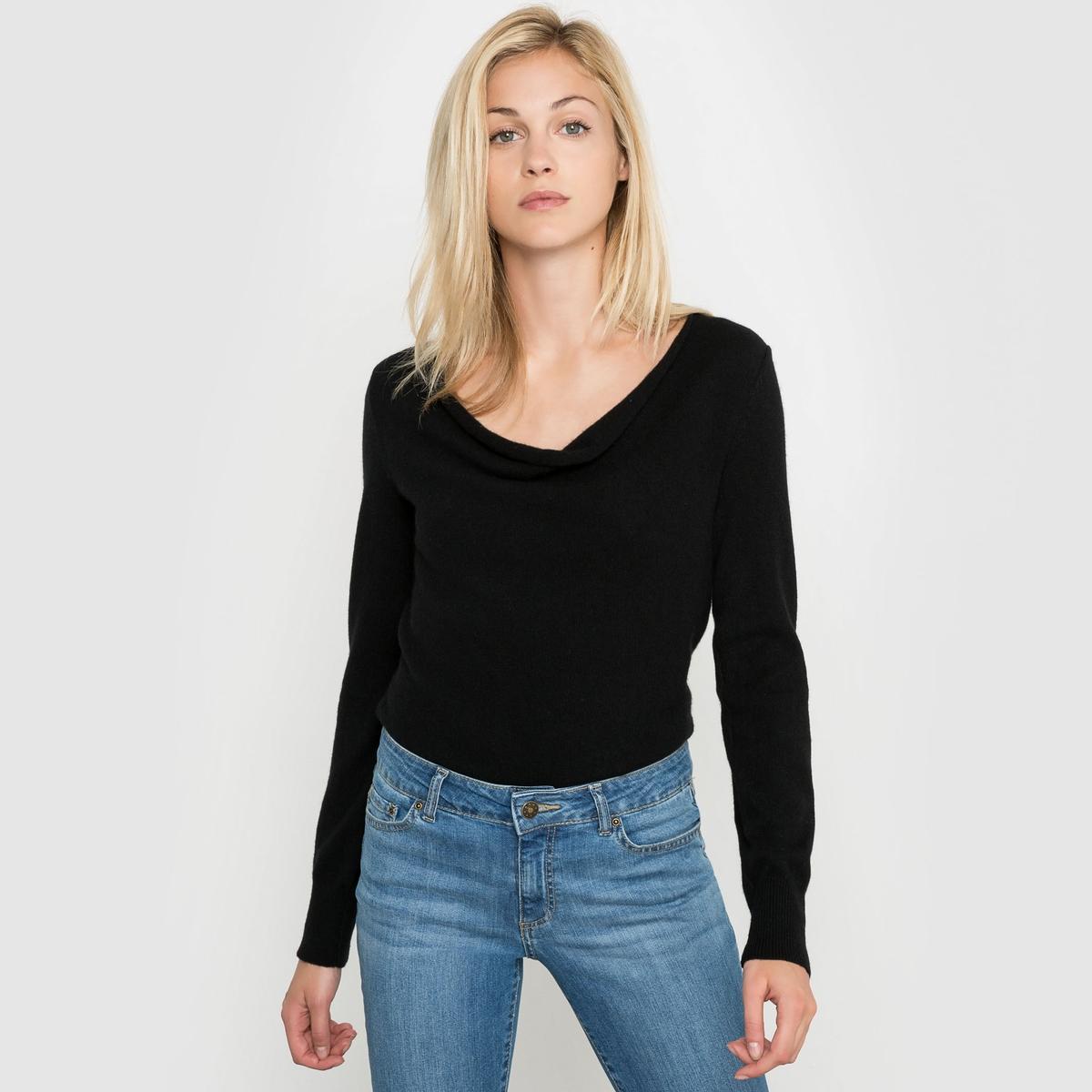 Пуловер с драпировкой на вырезе, 100% кашемираПуловер с драпировкой на вырезе. Длинные рукава. Края рукавов и низа связаны в рубчик. Джерси, 100% кашемира. Длина 64 см.<br><br>Цвет: бежевый меланж,серый меланж,темно-синий,черный<br>Размер: 34/36 (FR) - 40/42 (RUS).42/44 (FR) - 48/50 (RUS).38/40 (FR) - 44/46 (RUS).42/44 (FR) - 48/50 (RUS).46/48 (FR) - 52/54 (RUS).34/36 (FR) - 40/42 (RUS).38/40 (FR) - 44/46 (RUS).42/44 (FR) - 48/50 (RUS).50/52 (FR) - 56/58 (RUS).50/52 (FR) - 56/58 (RUS)