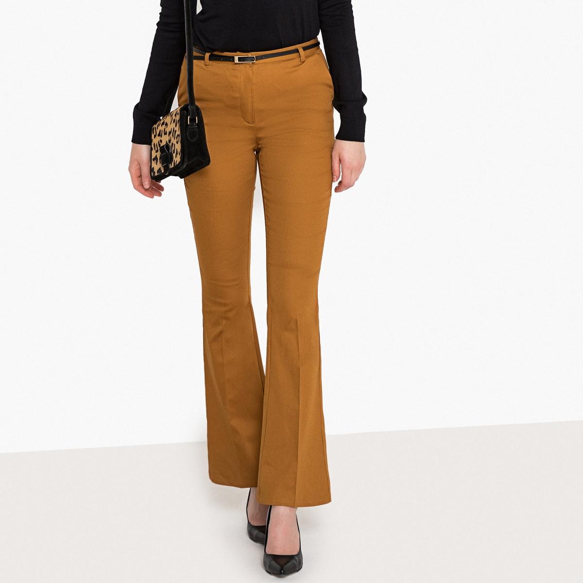 Pantaloni bootcut in satin di cotone