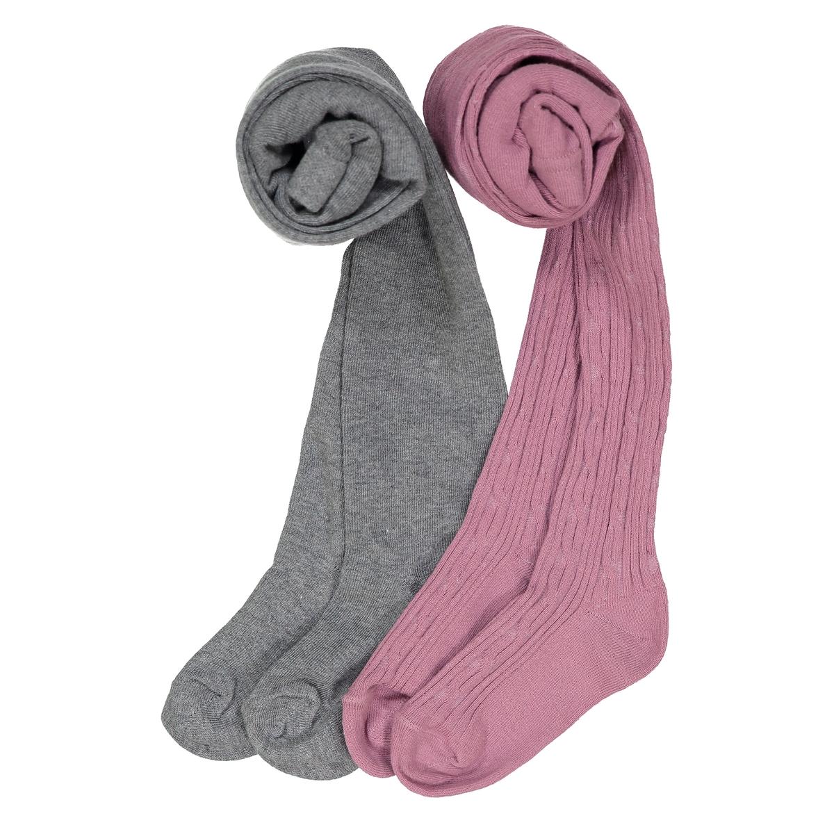 Комплект из 2 пар колготок: однотонные и оригинальные, размеры 23/26-35/38 комплект из 3 пар носков