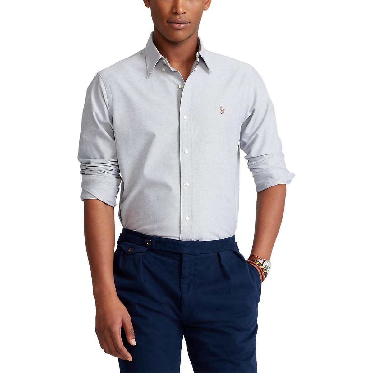 Chemise droite custom fit en oxford