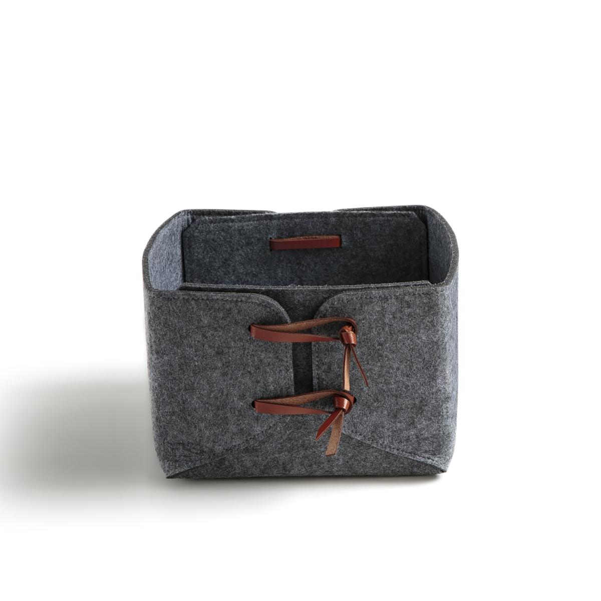 Коробка La Redoute Из фетрина Kyzac единый размер серый комплект из пиал из la redoute фаянса ajila единый размер серый