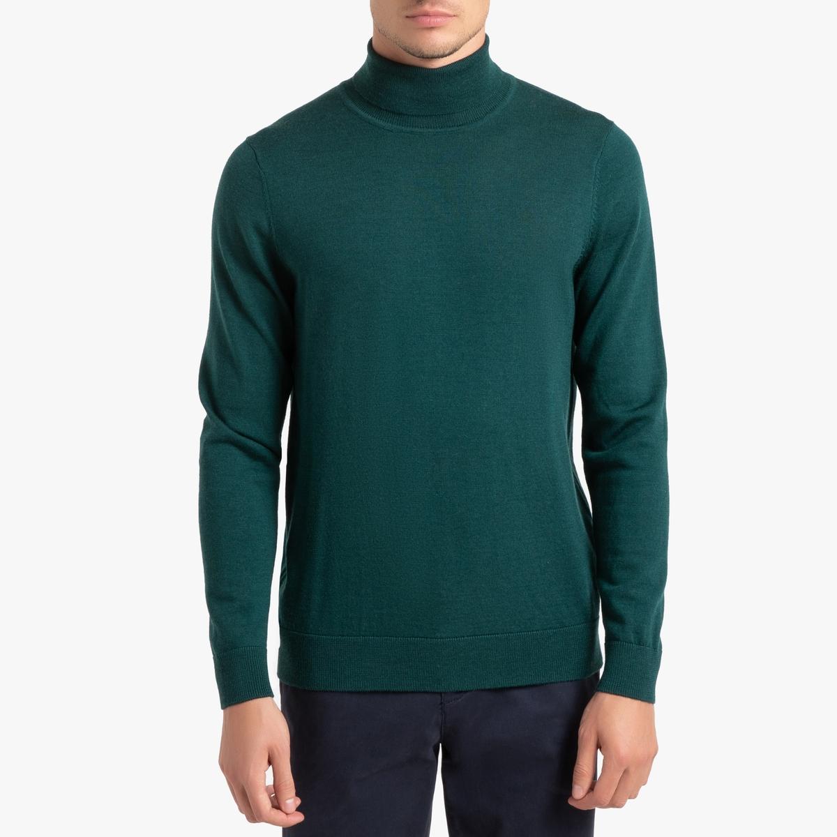 цена на Пуловер La Redoute С отворачивающимся воротником из шерсти мериноса Pascal M зеленый