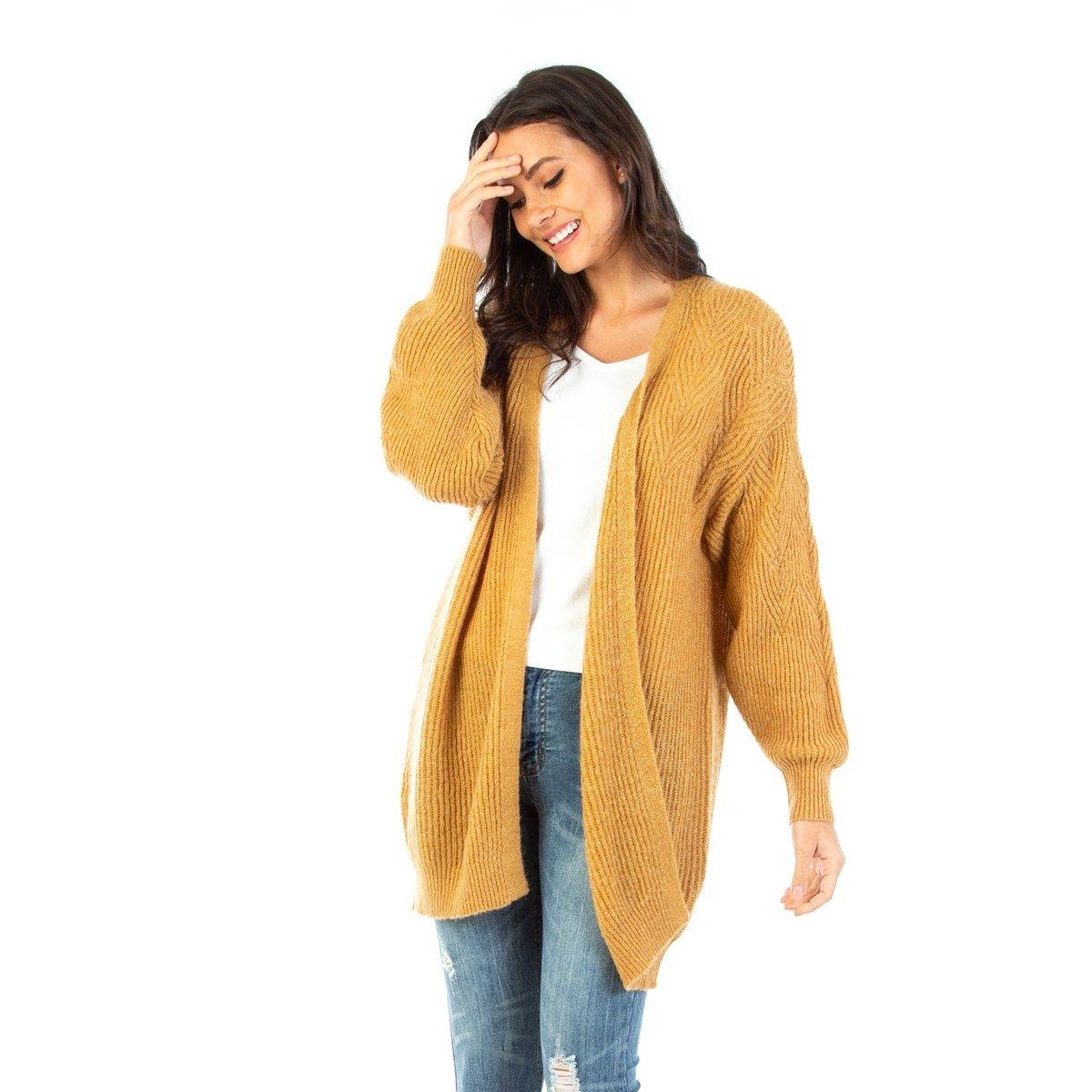 Gilet mi-long en laine mélangée Fil textile
