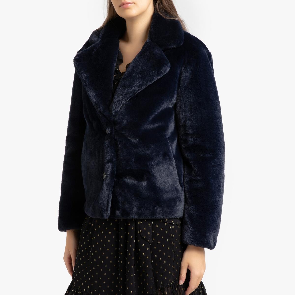 Короткое La Redoute Пальто на пуговицах LOGIN L синий