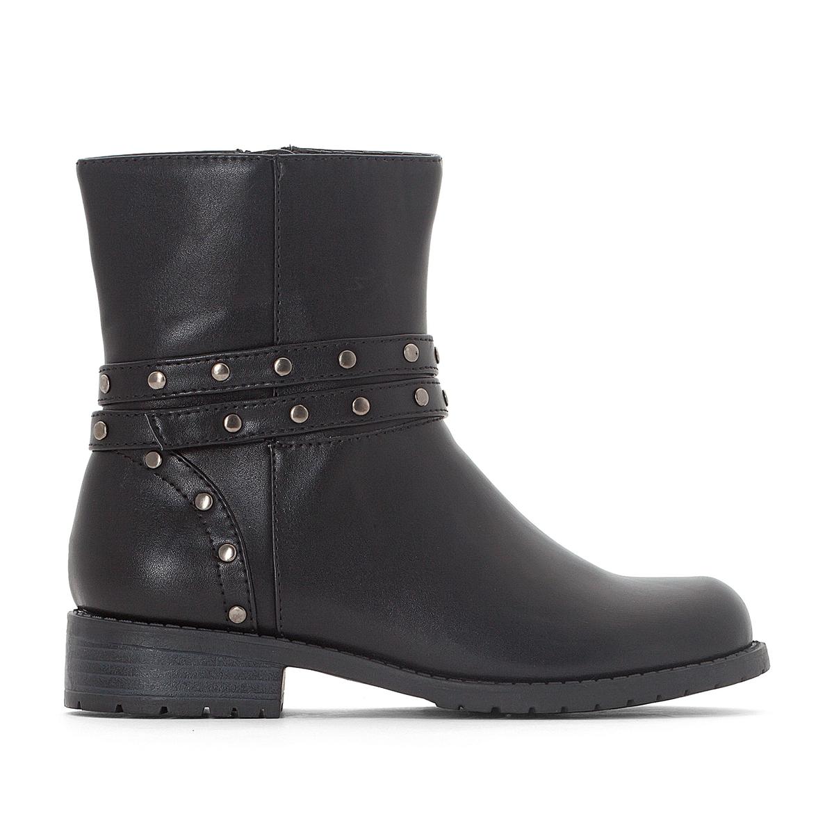 Ботинки в байкерском стиле 30-39