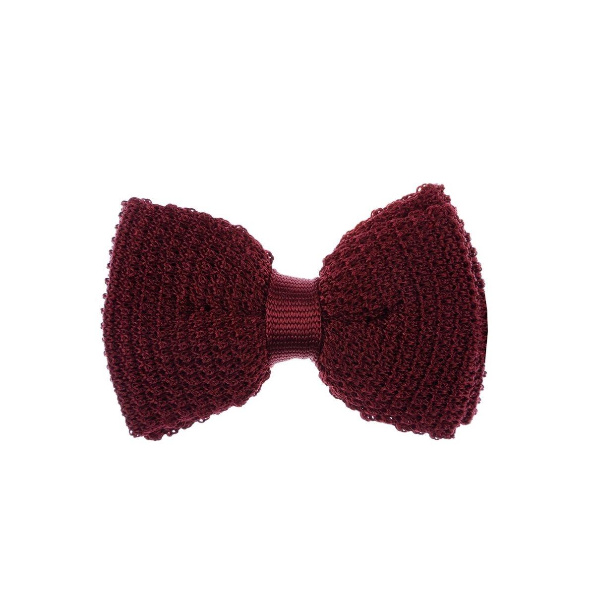 Noeud papillon en tricot de soie