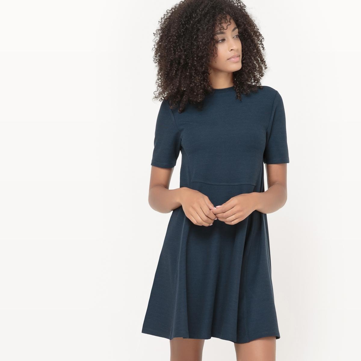 Платье расклешенное Vibel S/S DressСостав и описание : Материал       65% полиэстера, 35% хлопка  Марка       VILA  Уход :- Машинная стирка при 30°C с вещами схожих цветов.<br><br>Цвет: темно-синий<br>Размер: XS