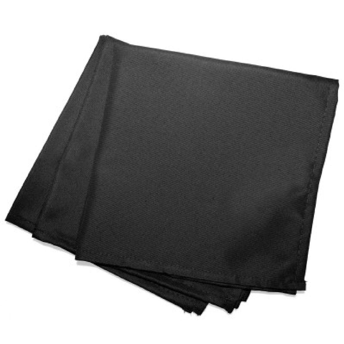 3 Serviettes de table  40 x 40 cm noir