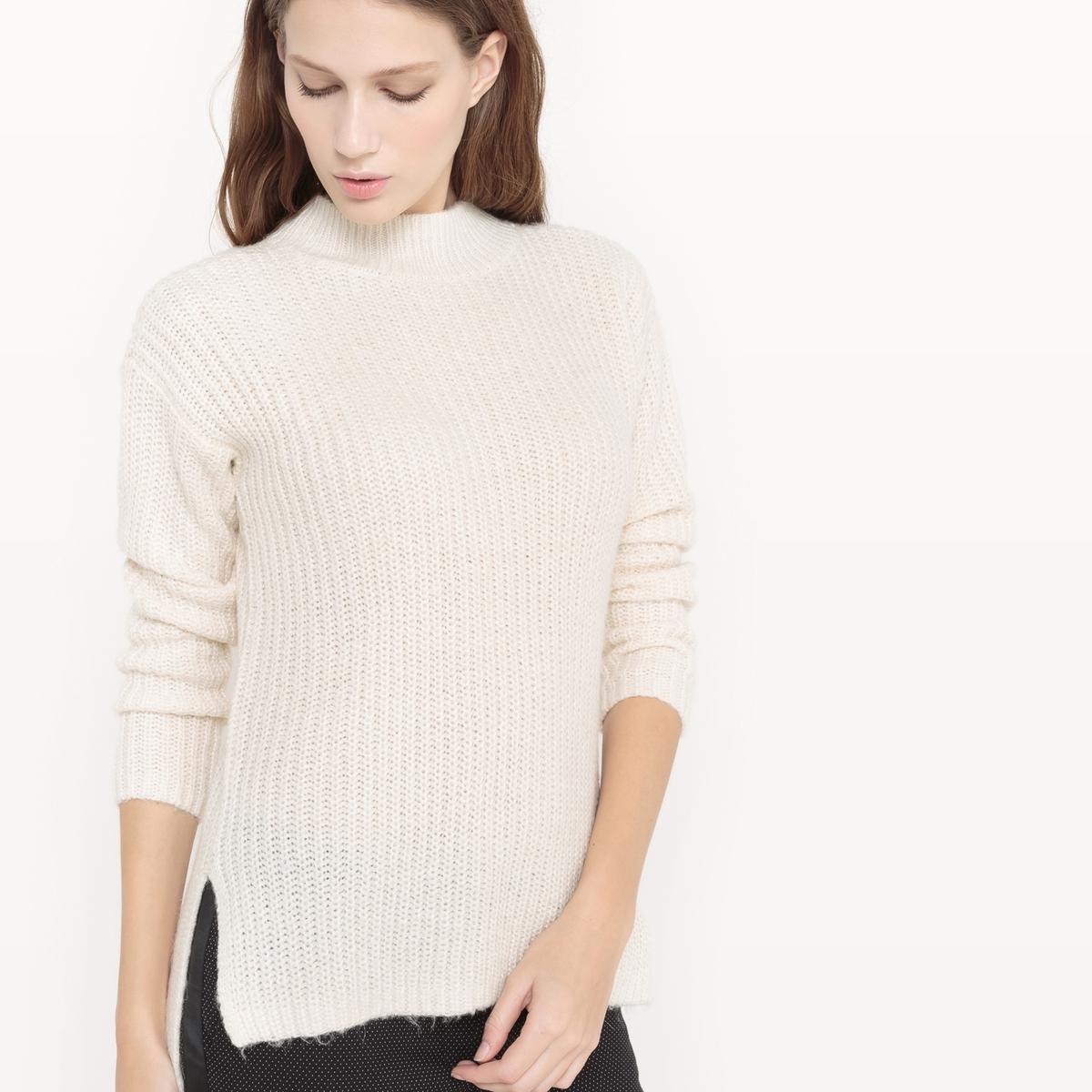 Пуловер со стоячим воротникомСостав и описание :Материал : 72% акрила, 20% полиэстера, 5% полиамида, 3% шерсти Марка : TOM TAILOR.<br><br>Цвет: слоновая кость