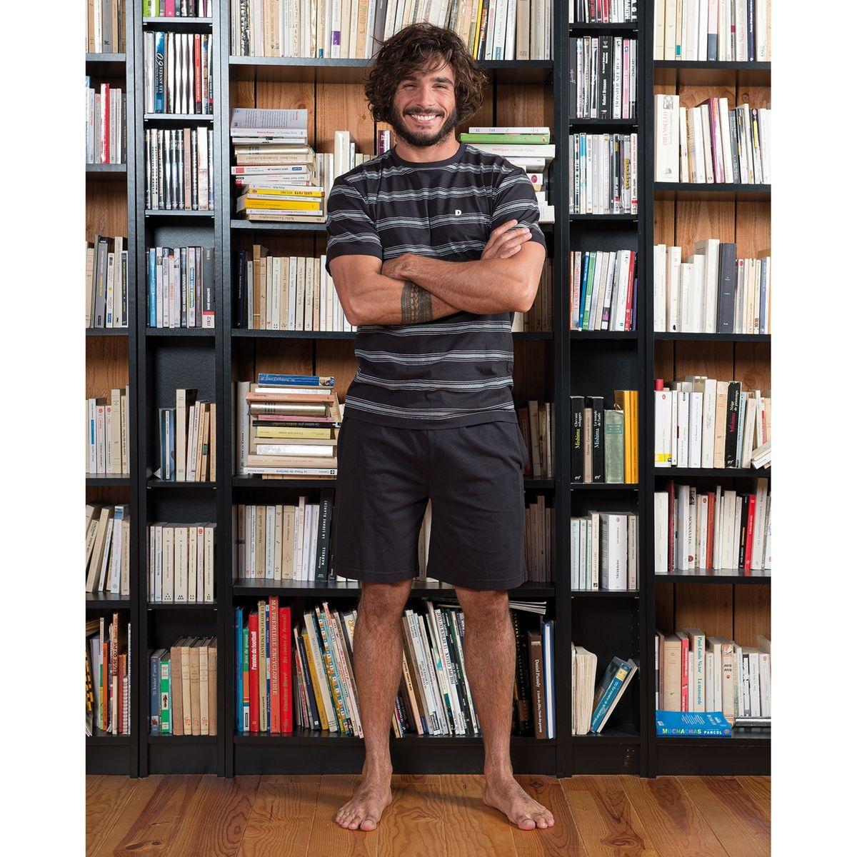 Pyjashort manches courtes rayé Célébrer