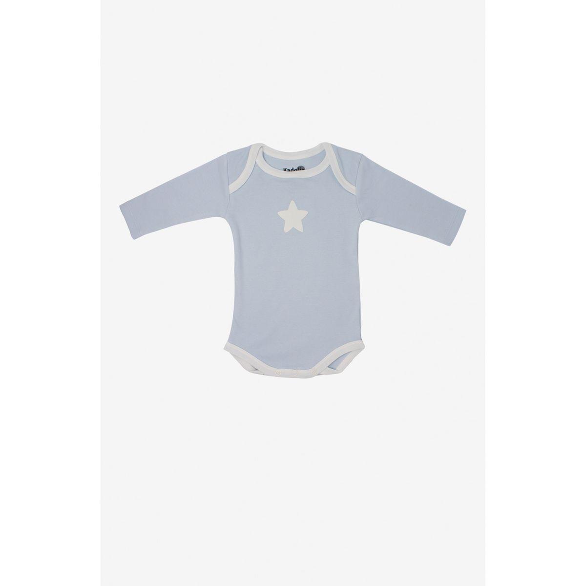 Body manches longues en coton bio à motifs étoiles (lot de 3)