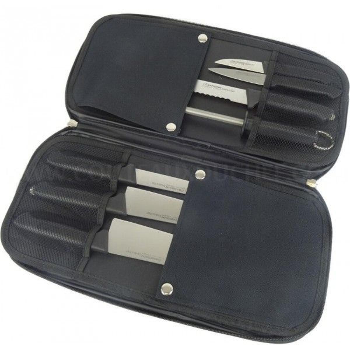 Mallette 6 couteaux + 1 fusil Diamant Bargoin Creative Chef