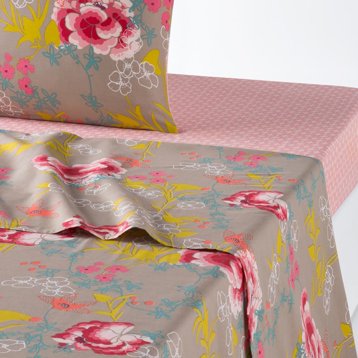 Простыня с принтом KYOTOОписание:Простыня с принтом KYOTO. Изобилие цветов в вашей квартире с постельным бельем в японском стиле, украшенное пионами! Характеристики простыни KYOTO: Цветочный рисунок на серо-коричневом фоне.100 % хлопок, 57 нитей/см? ( чем больше нитей /см?, тем качественнее ткань).Легкость ухода.    Стирка при 60°.   Найдите все постельное белье KYOTO из 100 % хлопка на сайте laredoute.ru     Знак Oeko-Tex® гарантирует, что товары прошли проверку и были изготовлены без применения вредных для здоровья человека веществ Размеры:   180  x 290 см: 1-сп 240 х 290 см: 2-сп.270 x 290 см: 2-сп.<br><br>Цвет: цветочный рисунок<br>Размер: 180 x 290  см