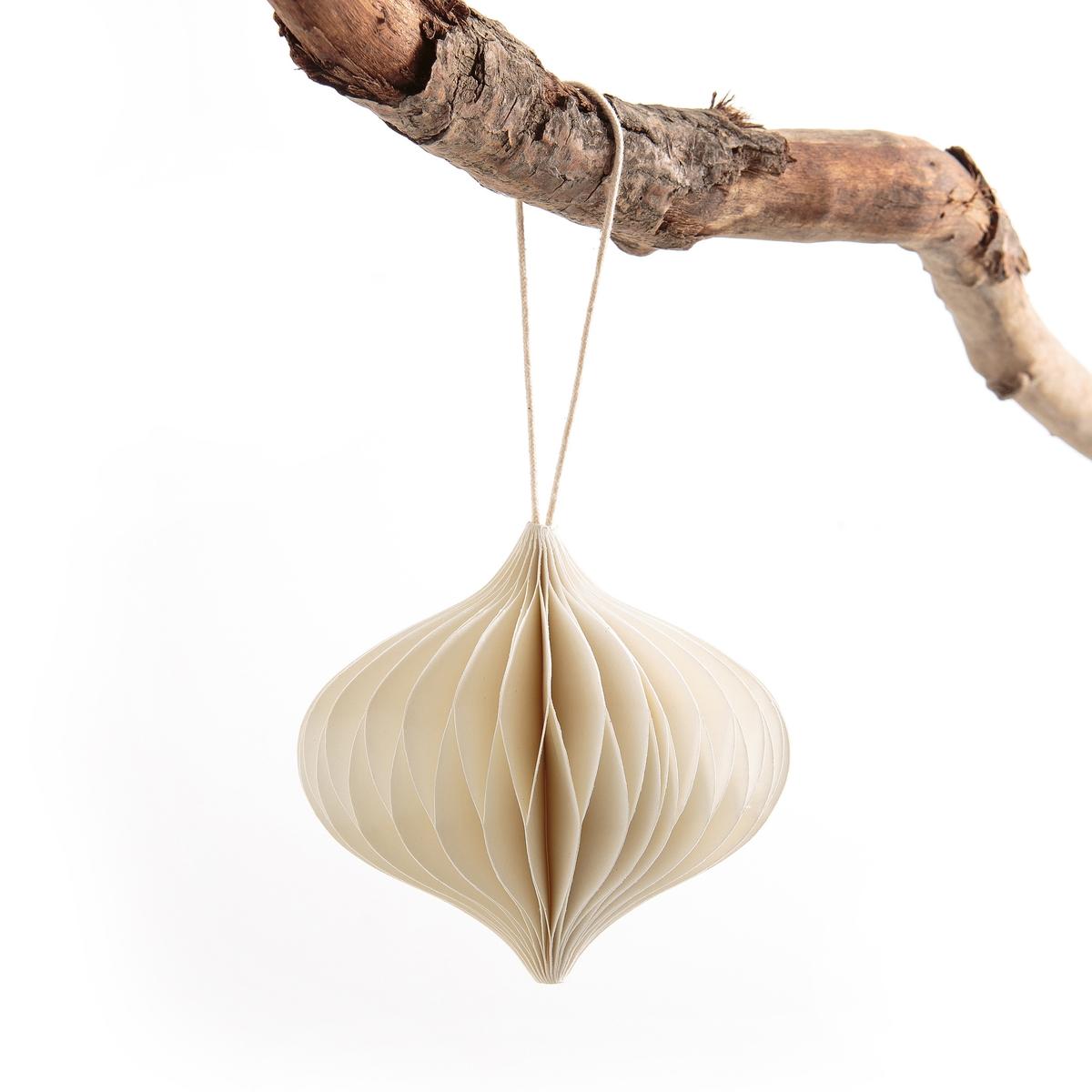 Украшение из бумаги.  модель 3 KalissaОписание:Украшение Kalissa. Украшение из бумаги, напоминающее оригами, придаст вашей елке праздничный вид.      Размеры : ?9 см, высота 9 см с креплением. Сочетается с украшением Kalissa модель 1 и модель 2, продающимися на нашем сайте .<br><br>Цвет: слоновая кость,черный<br>Размер: единый размер.единый размер