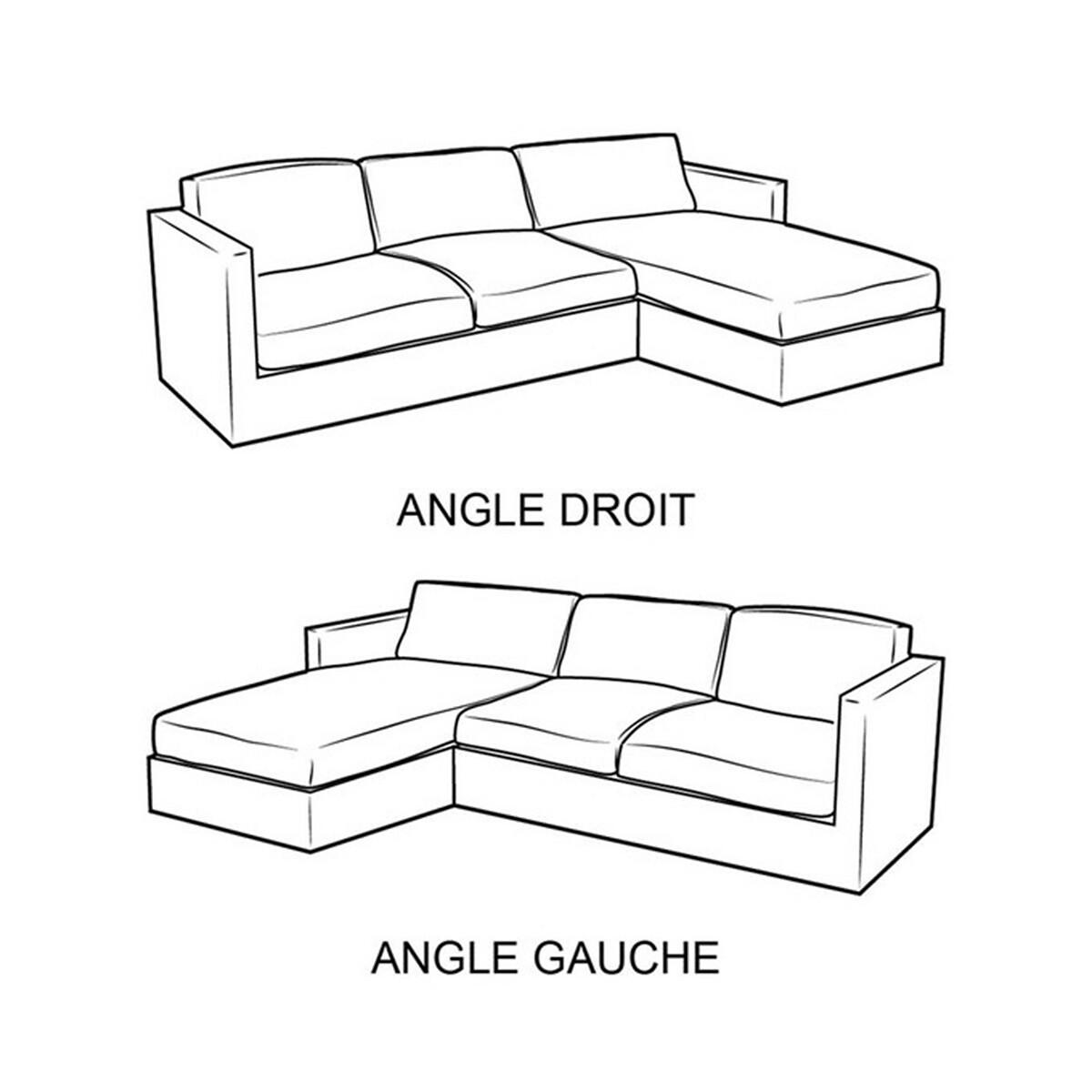 Canapé d?angle conv. Odessa, Bultex, coton & lin