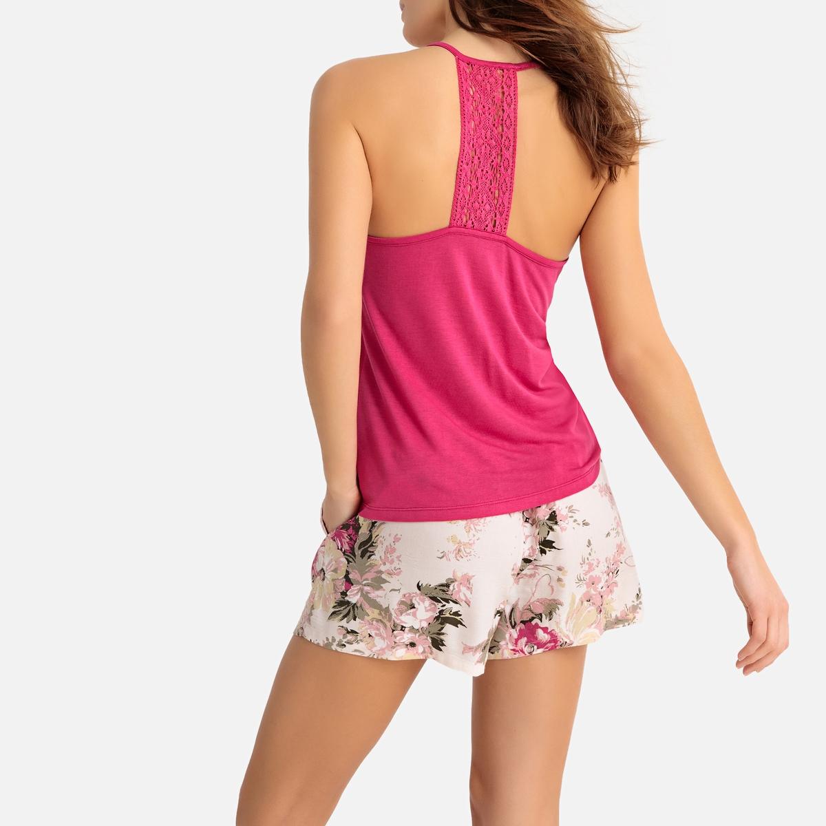Pijama con short estampado