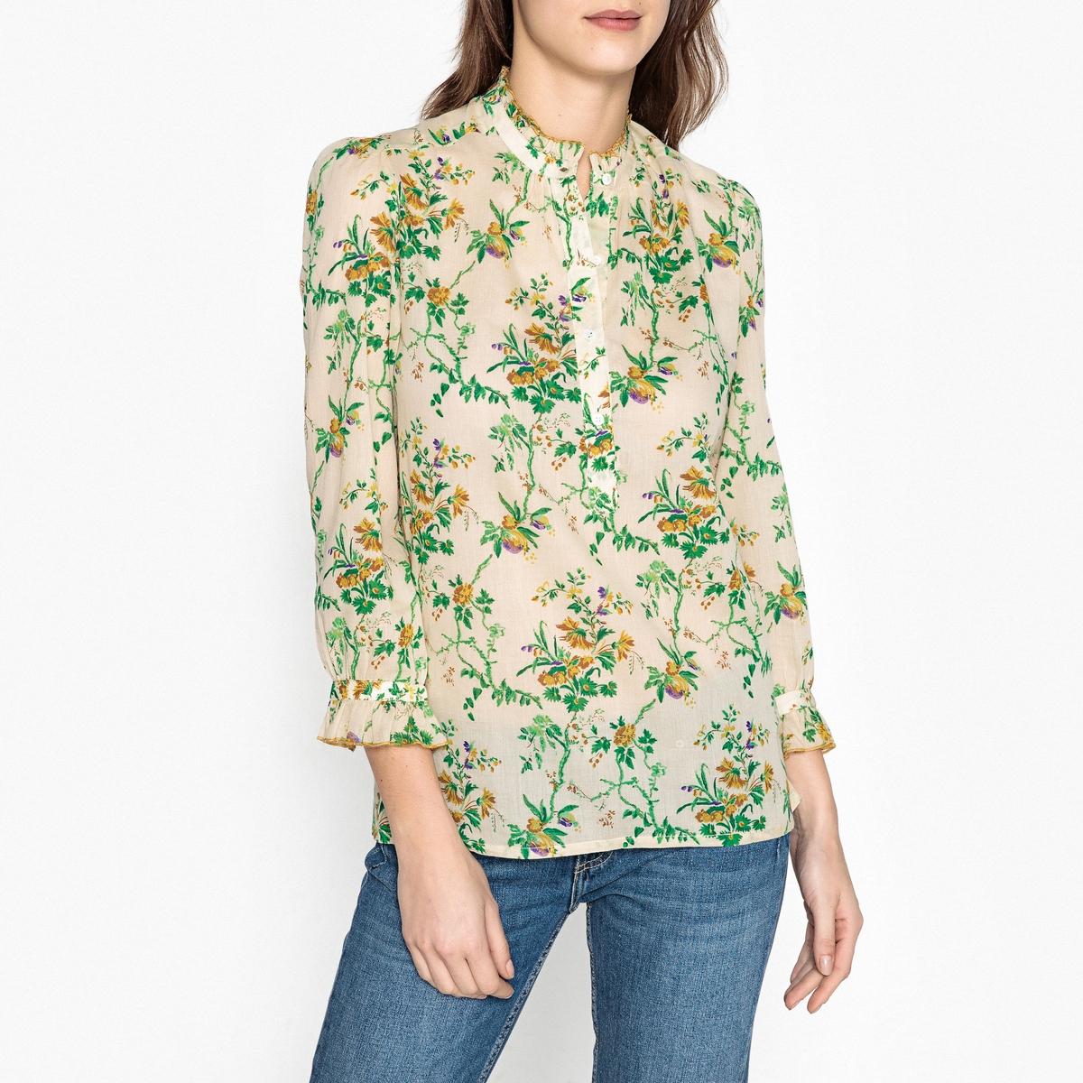 Блузка с рисунком и небольшими воланами BETTY