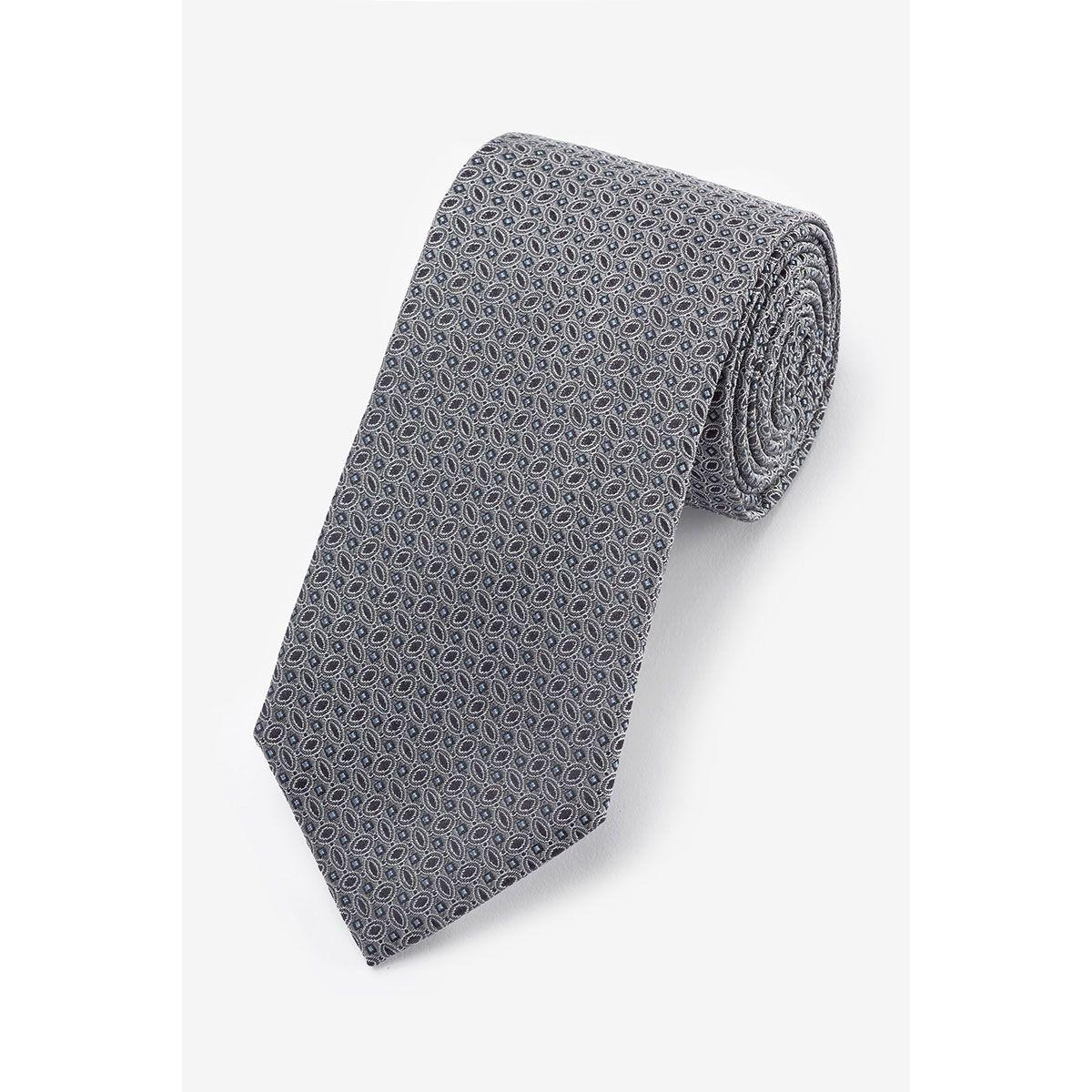 Cravate imprimé géométrique