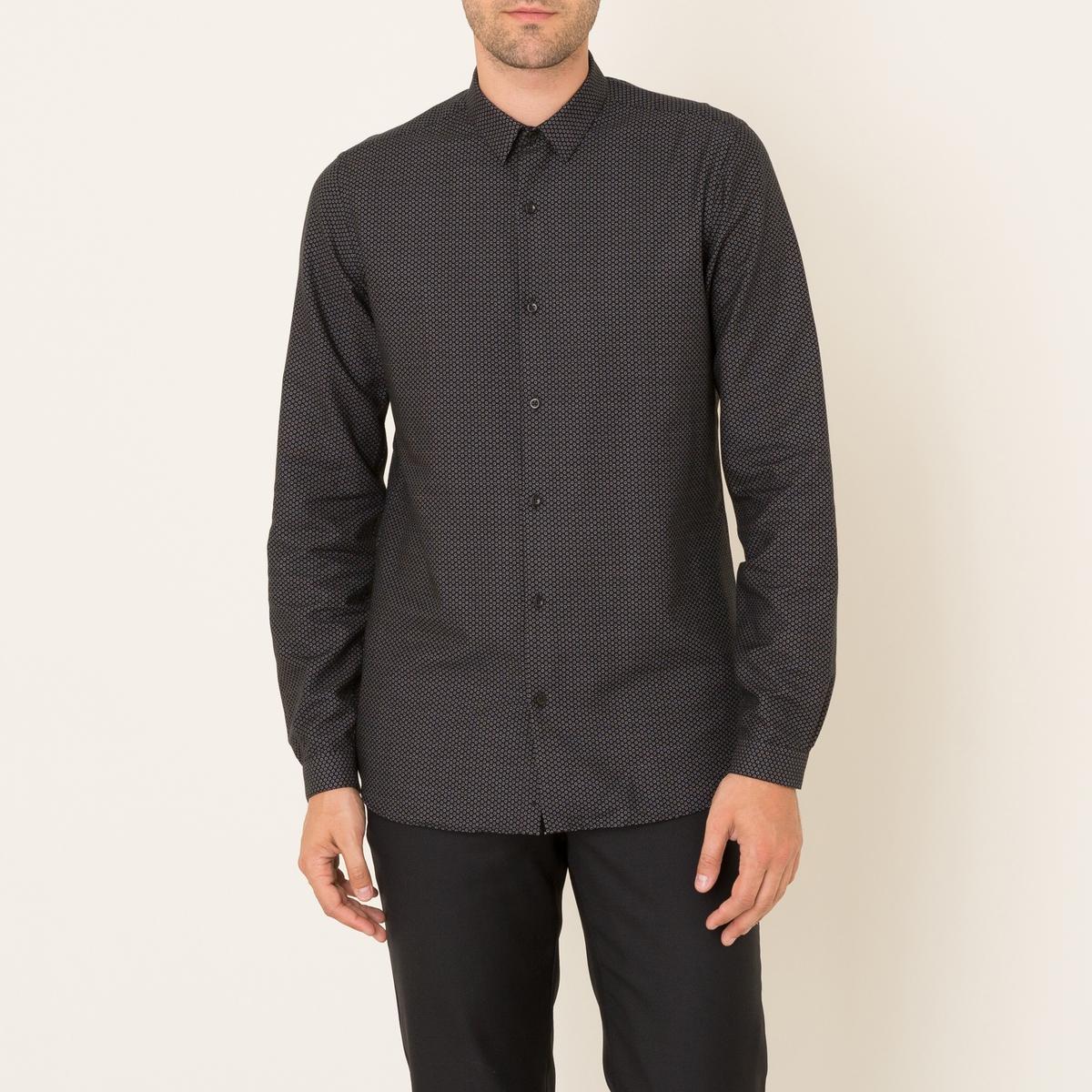Рубашка с рисункомСостав и описание Материал : 100% хлопокМарка : THE KOOPLES<br><br>Цвет: черный