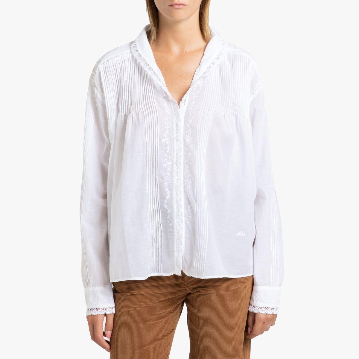 Chemise brodée à manches longues