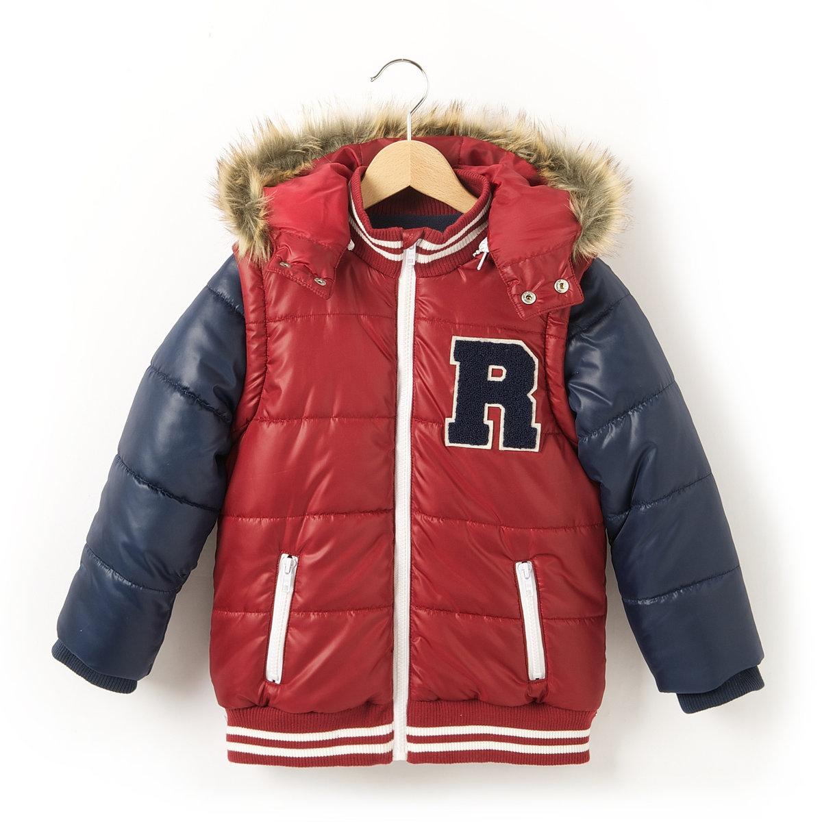Куртка стеганая двухцветная, 3-12 лет