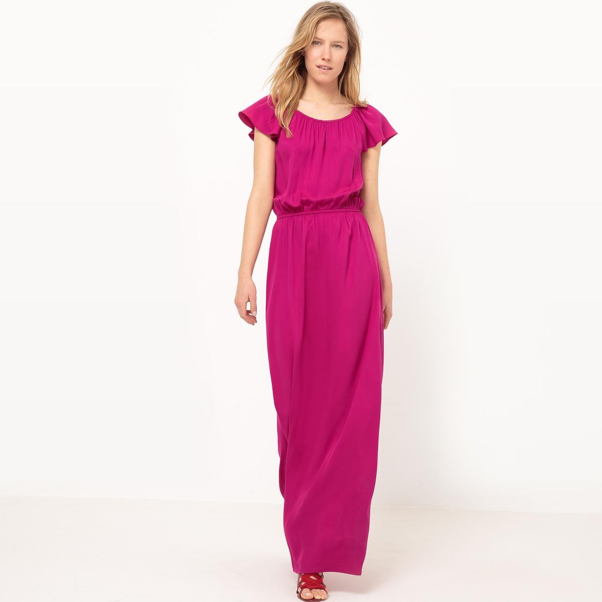 Платье длинное струящееся