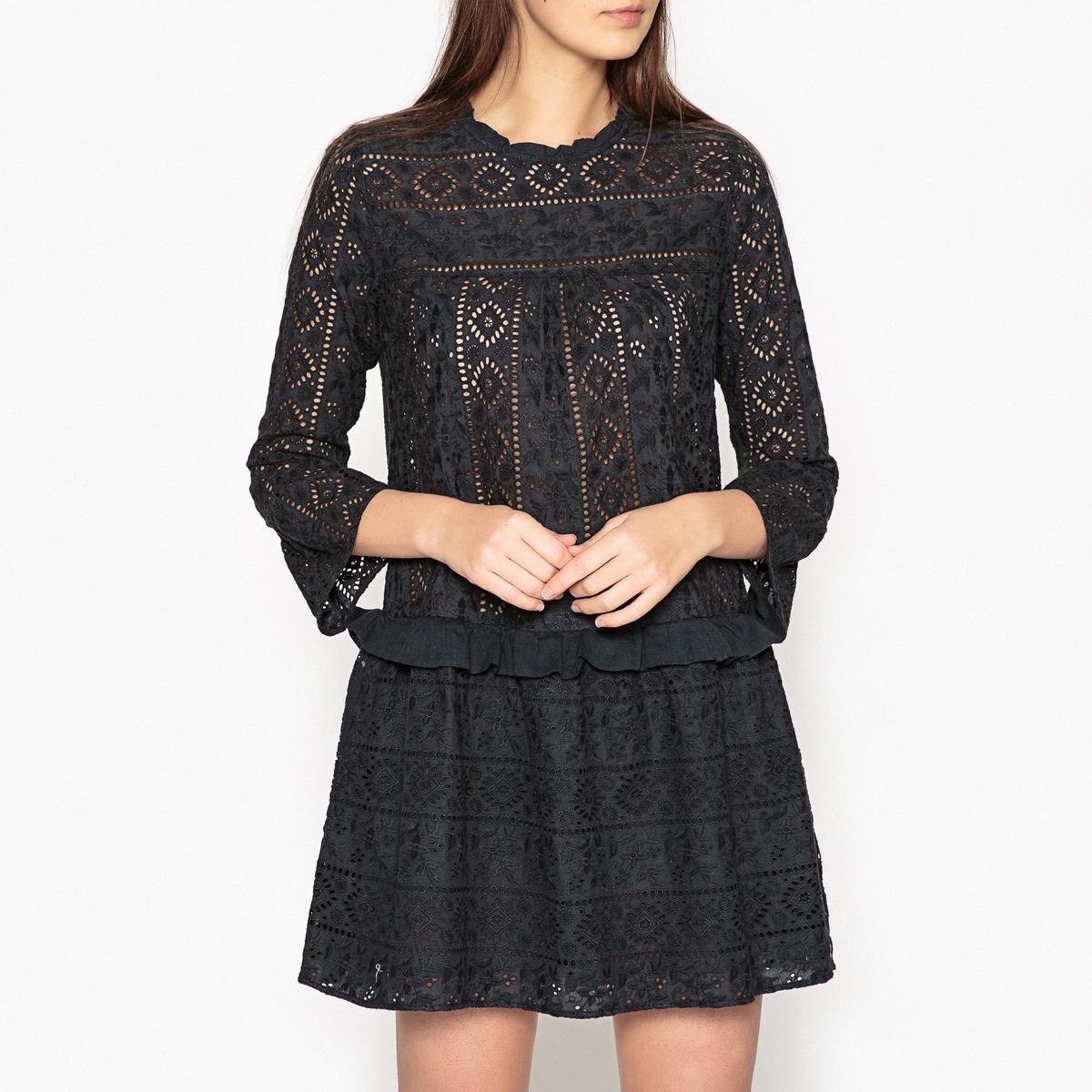 Платье с воланами RAMEAUX
