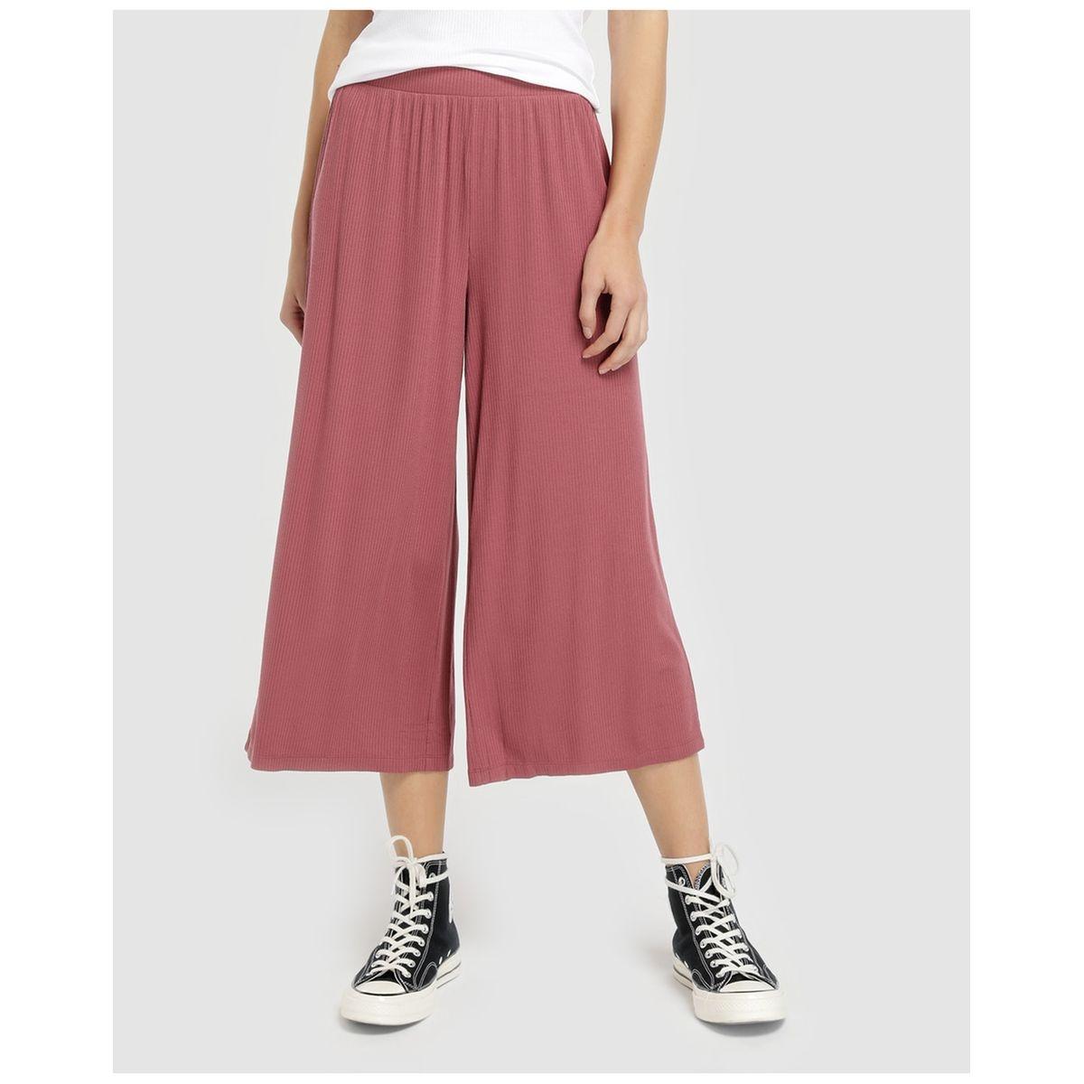 Pantalon cropped côtelé
