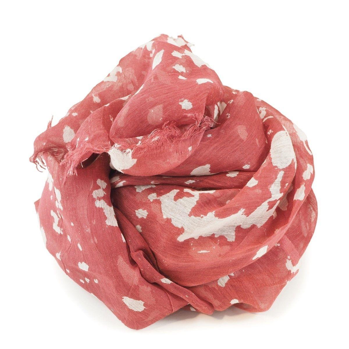 Foulard fin en soie et coton imprimé Japon