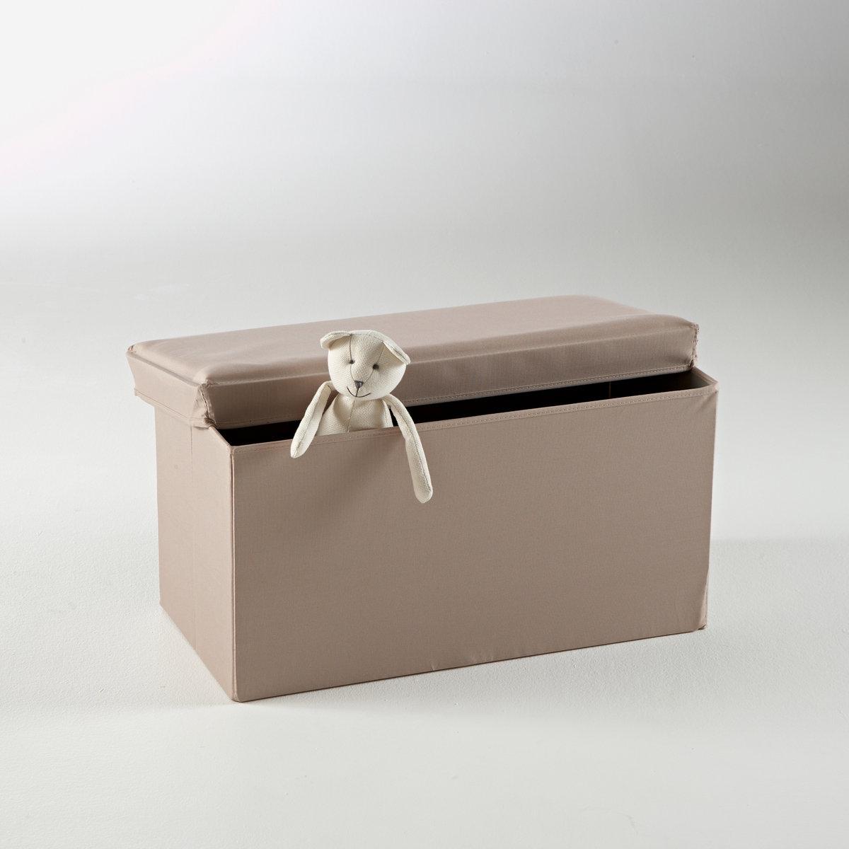 Пуф для хранения складнойОписание складного пуфа для хранения Toudou :Коробка из МДФ, обтянутая тканью, легкий наполнитель из полиэстера.5 цветов на выбор: серый, серо-коричневый, красный, зеленый и виолетовый.Пуф для хранения Toudou готов к сборке.Ищите полную коллекцию Toudou на laredoute.ru.Размеры пуфа для хранения Toudou :Длина: 72 см. Высота: 40 см. Ширина: 37 см.Внутри: Длина 67,5 x Высота 35 x Ширина 32 см.<br><br>Цвет: серо-коричневый,серый мышиный