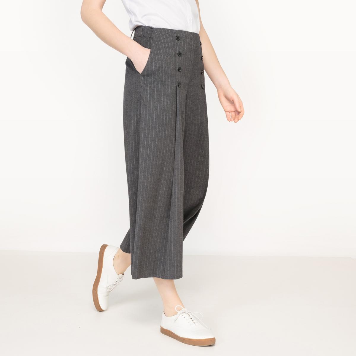 Юбка-брюки в тонкую полоску от La Redoute