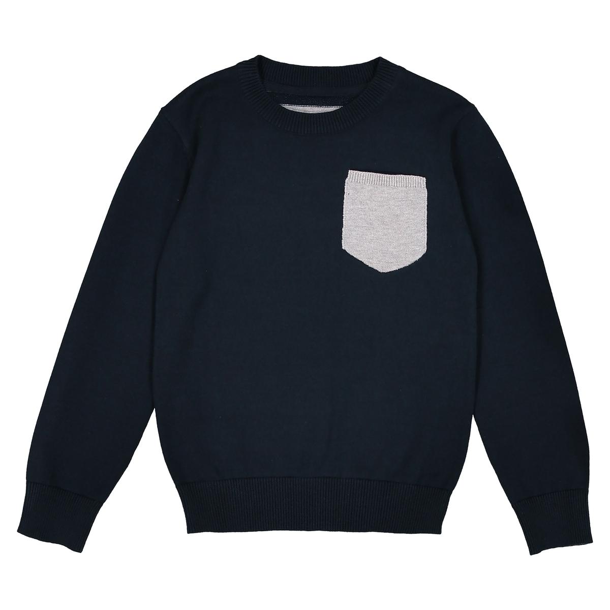 Пуловер в полоску сзади, 3-12 лет