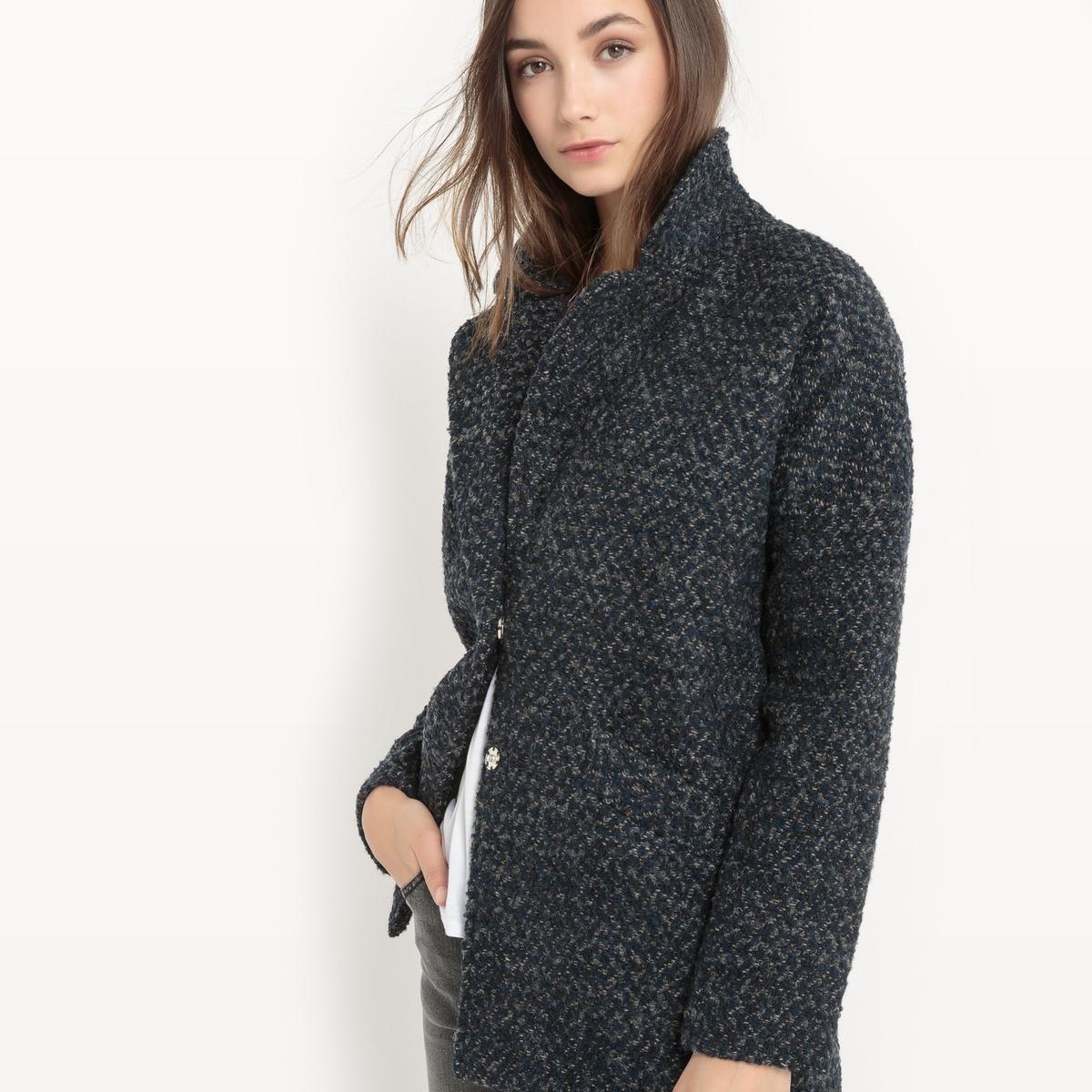 Пальто с костюмным воротником пальто из шерстяного драпа 70