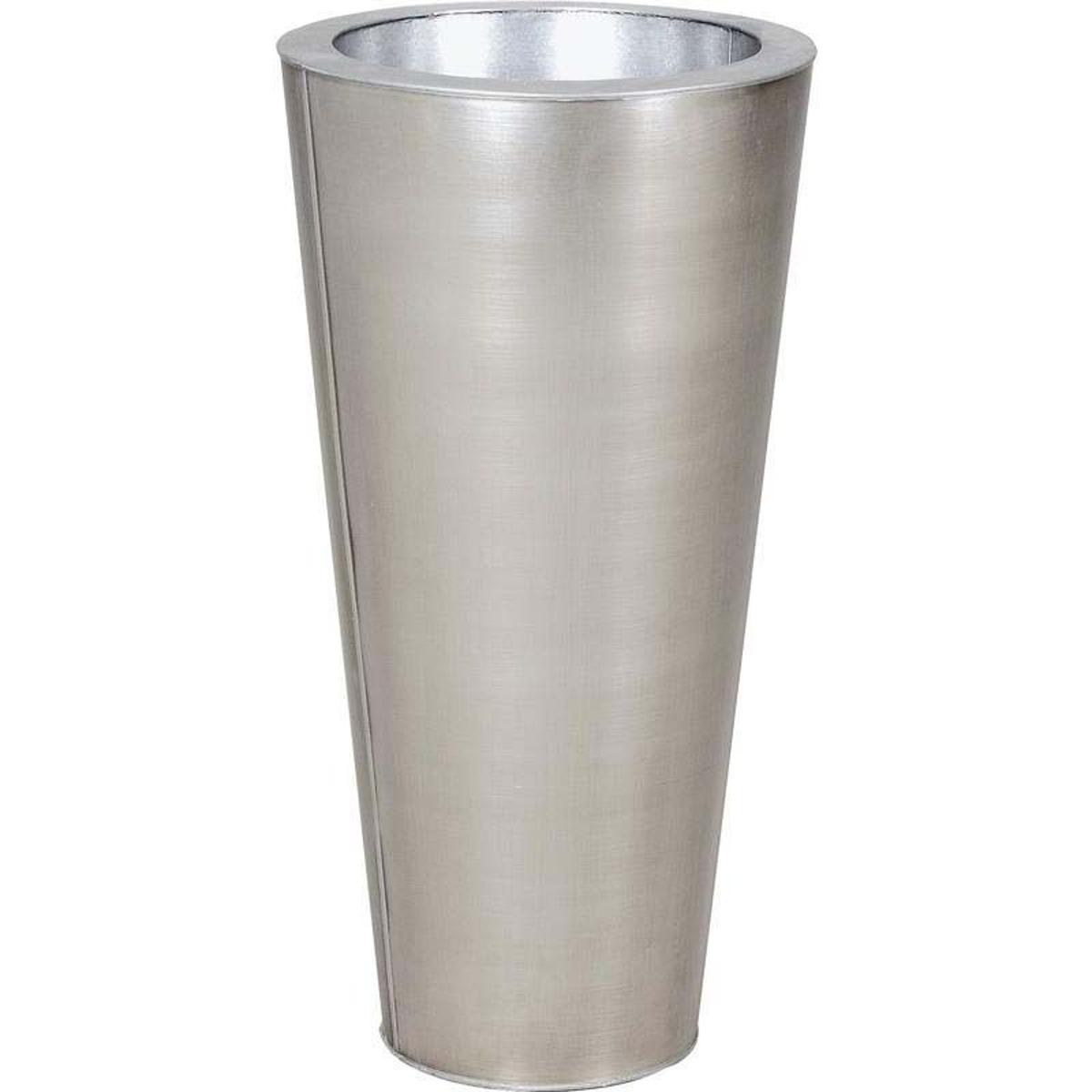 Vase rond en zinc titanium