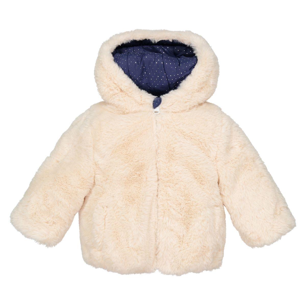 Manteau réversible imitation fourrure 3 mois-3 ans