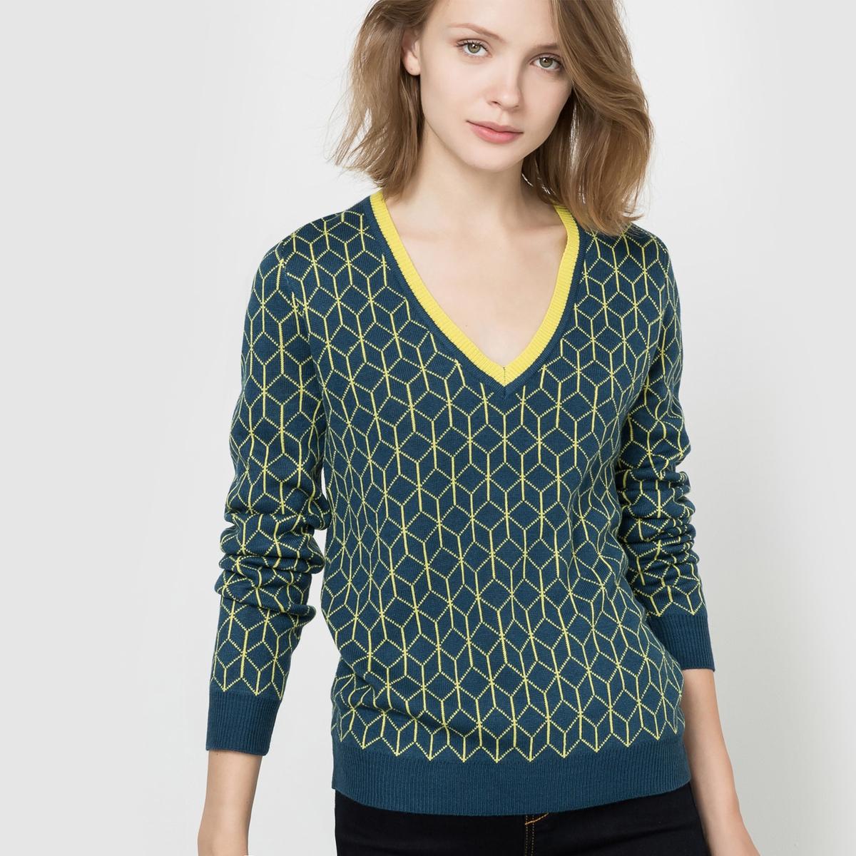 Пуловер жаккардовый